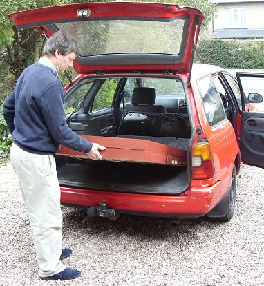 Loading a baseboard into your car